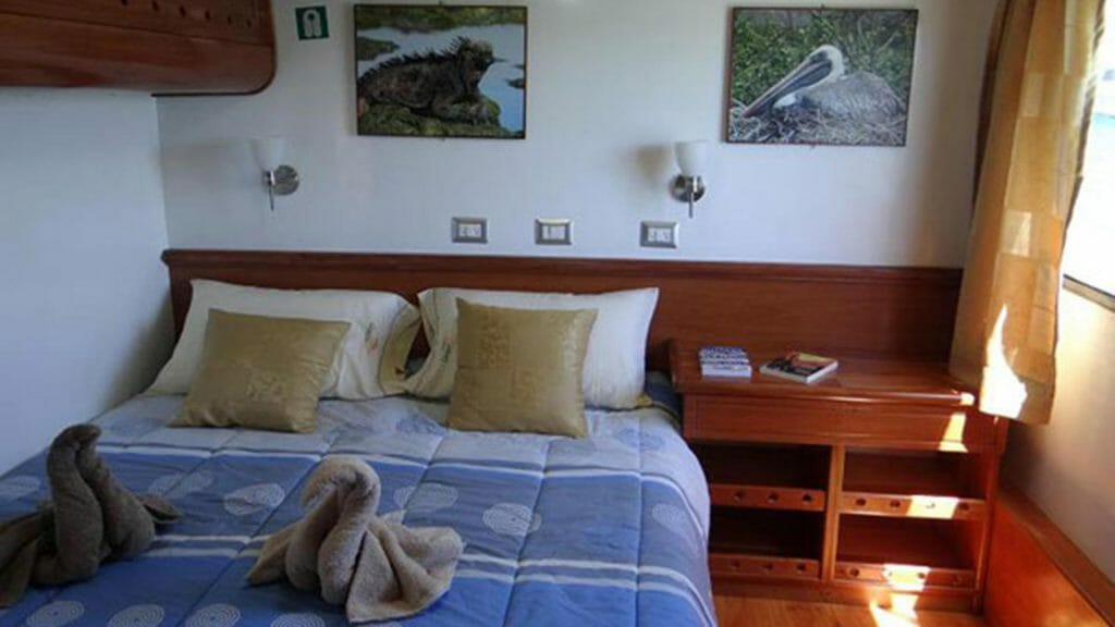 Angelito yacht Galapagos cruise - double bed guest cabin