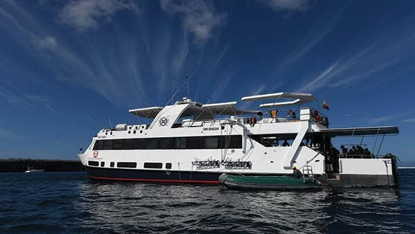 side view of the Humboldt Explorer Galapagos dive yacht