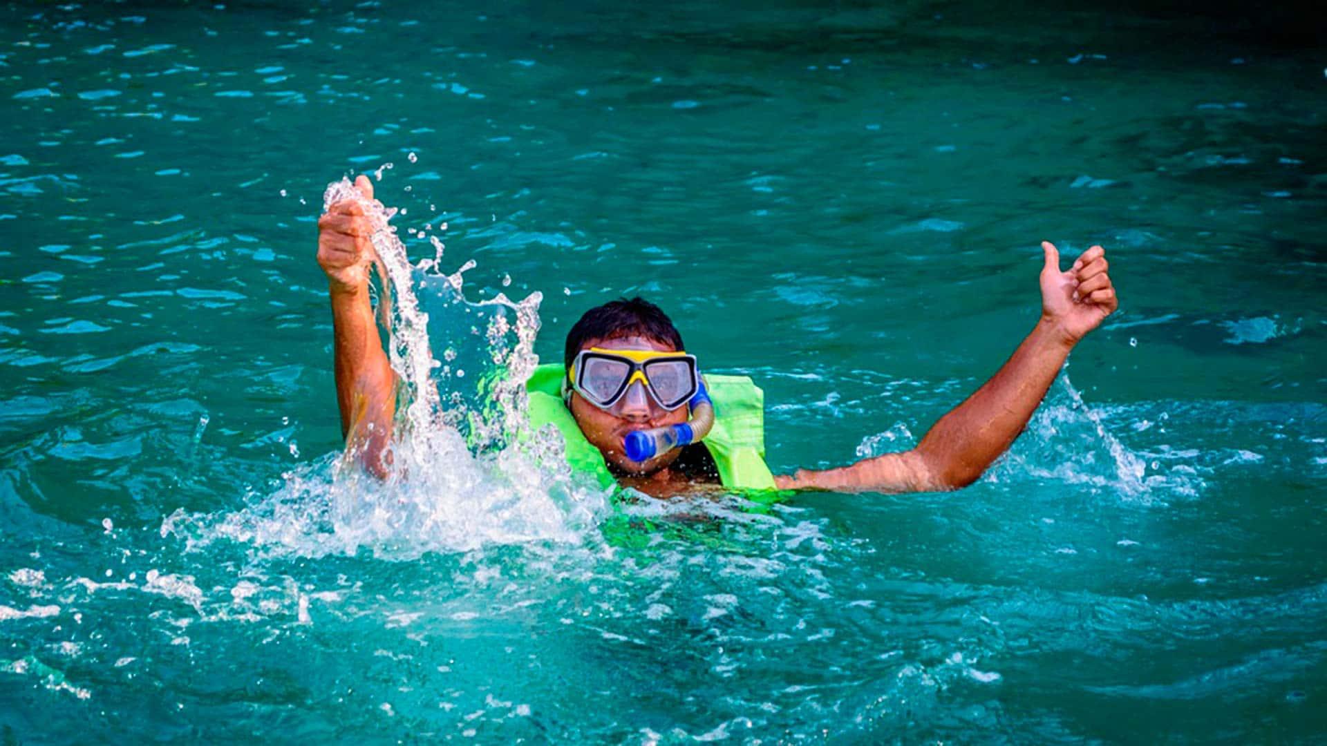 galapagos snorkeler
