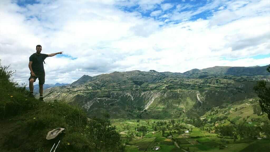 spectacular valley views on the quilotoa loop trek
