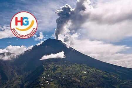 Équateur du volcan tungurahua qui couve