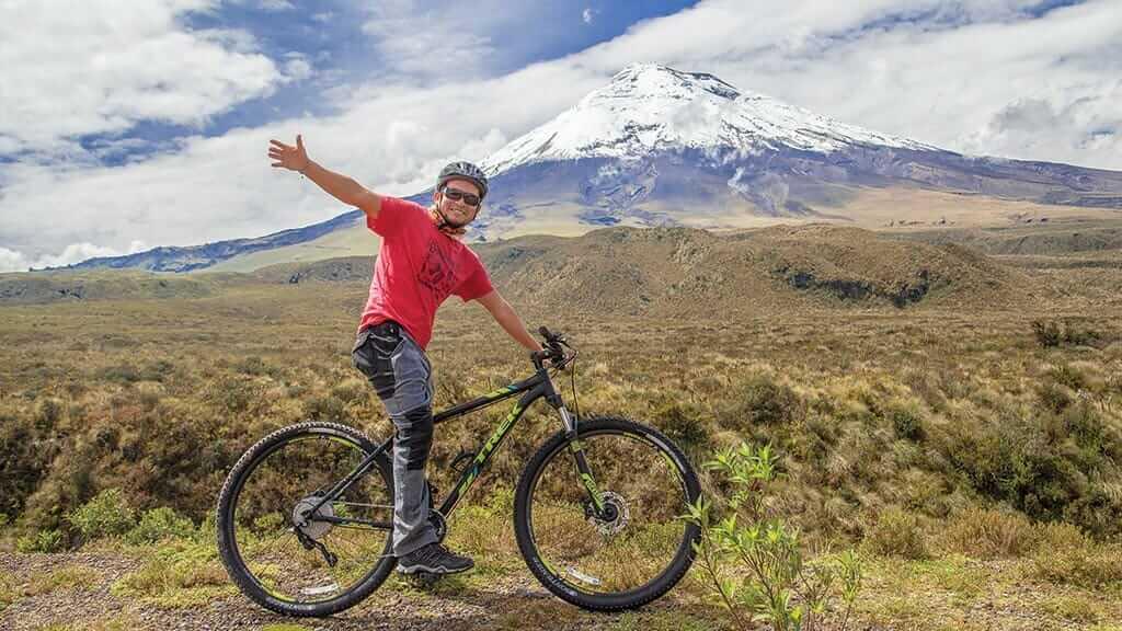 mountain biking tour in cotopaxi volcano national park ecuador
