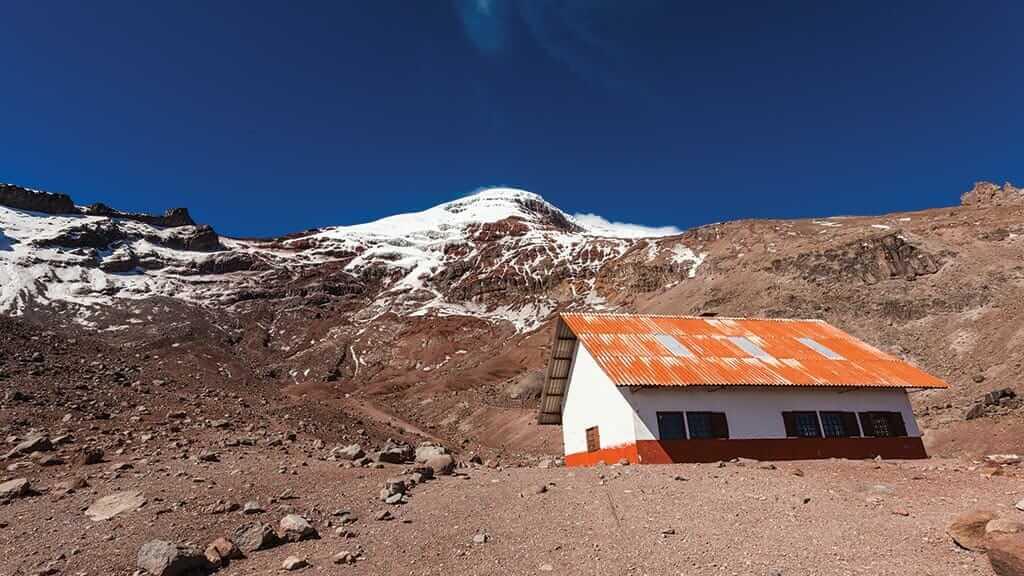 cotopaxi volcano jose rivas refuge hut