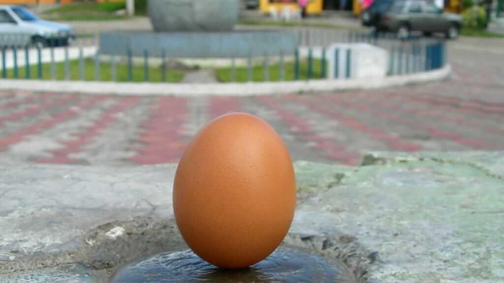 balance an egg on a nail at the equator in quito ecuador
