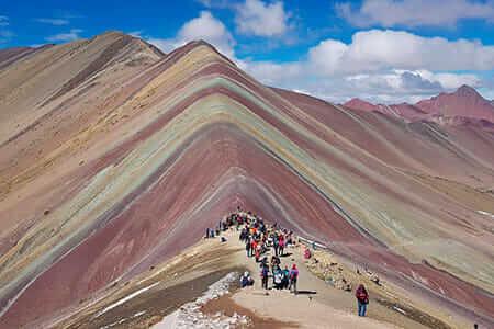 spectacular colors of Rainbow Mountain cusco peru