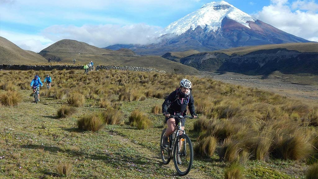 mountain biking in cotopaxi national park ecuador