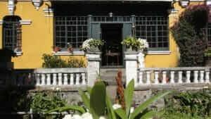 facade of hacienda la alegria cotopaxi ecuador