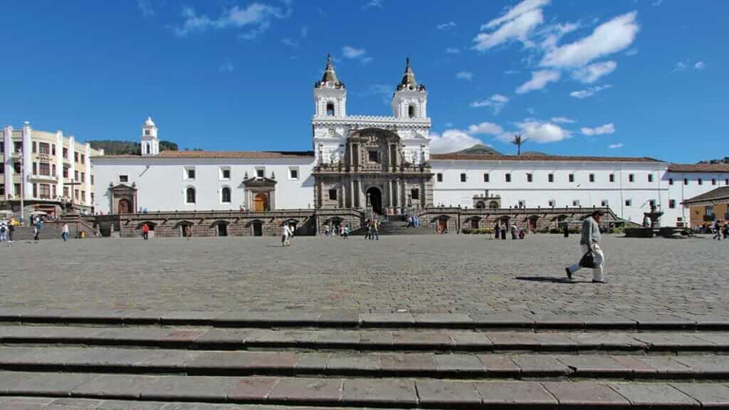 plaza san francisco and monestary - quito ecuador