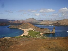 thumb - Bartolome island - a panoramic view of pinnacle rock at the Galapagos islands