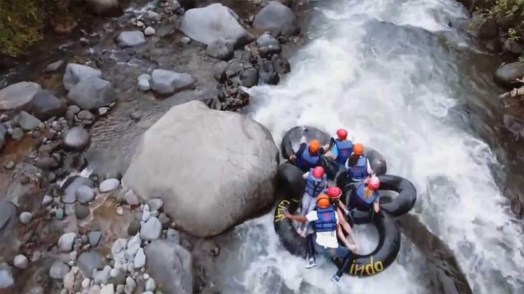 Mindo river tubing tour fun - Ecuador