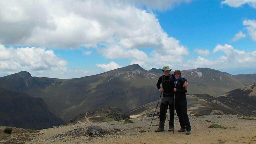 beautiful mountain views on the inca trail ecuador
