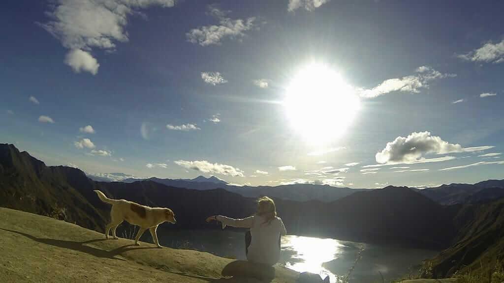 sunrise at quilotoa ecuador