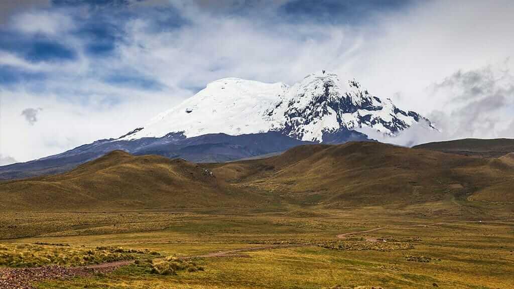 early morning view of antisana volcano ecuador
