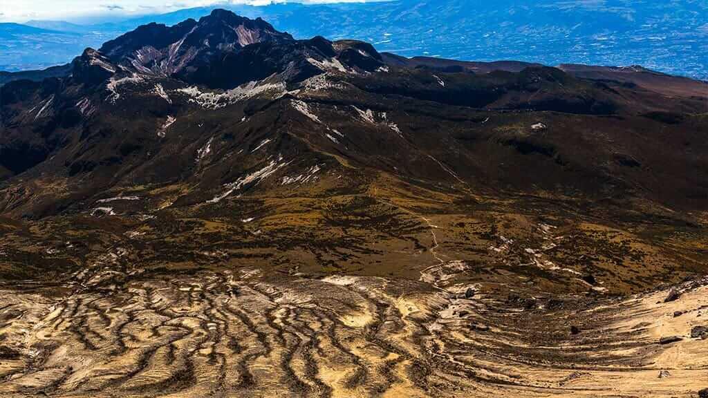 beautiful landscape of guagua pichincha volcano quito ecuador