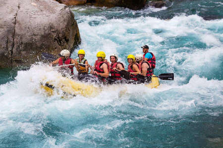 ecuador rafters on the toachi river