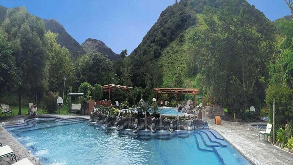 papallacta hot spring pools are a relaxing day tour in ecuador