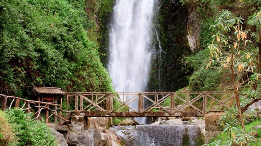 peguche waterfall in otavalo ecuador