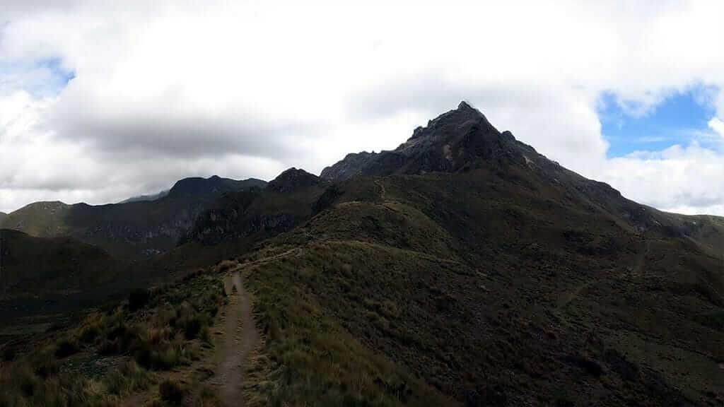 dark peak of pichincha volcano quito ecuador
