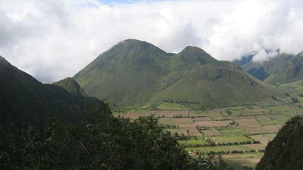 view inside pululahua volcano crater ecuador
