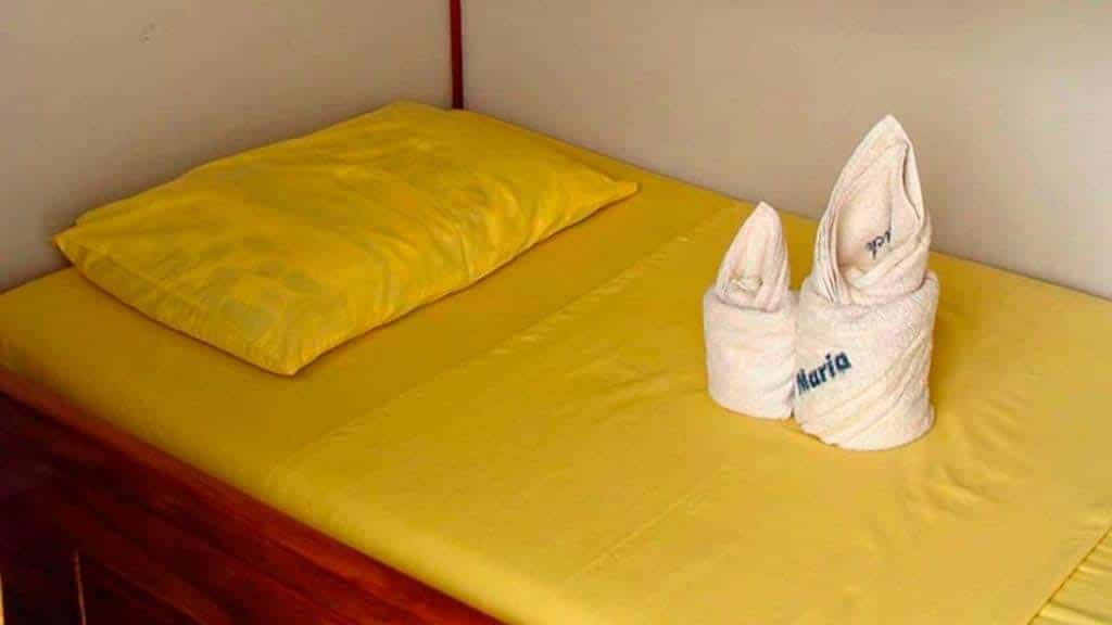 Aida Maria yacht - private single bed guest cabin - Galapagos islands cruise