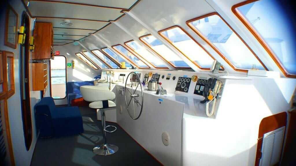Anahi Catamaran yacht Galapagos cruise - captains galley