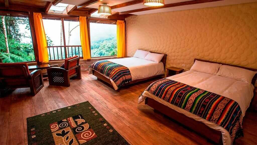 bellavista lodge ecuador twin suite room with cloud forest views