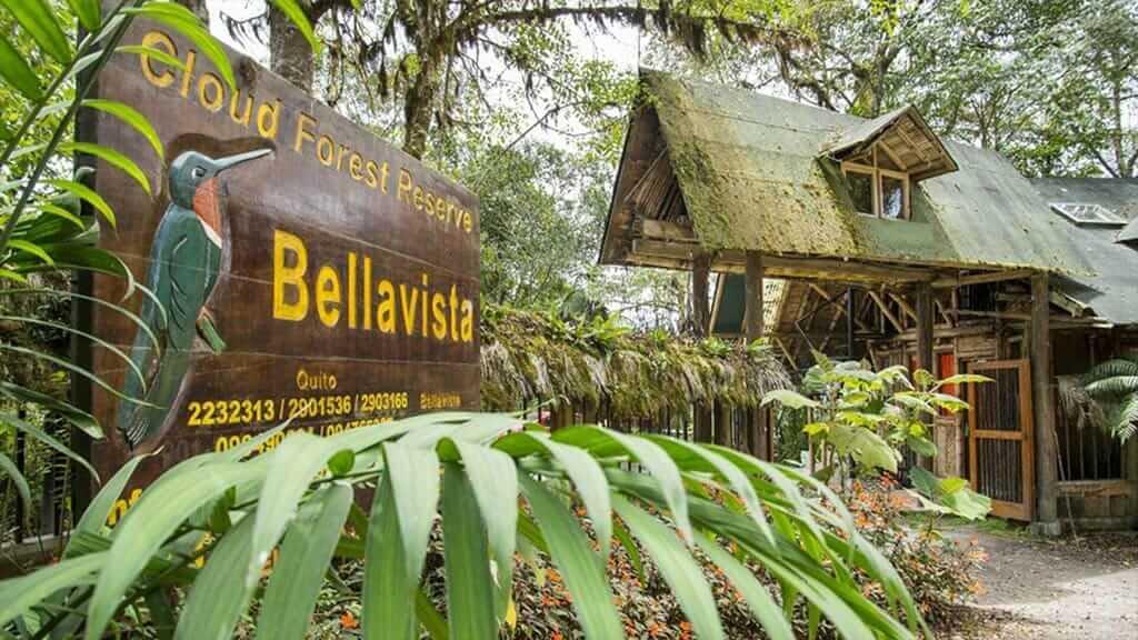 entrance to bellavista bird lodge in ecuador's cloud forest