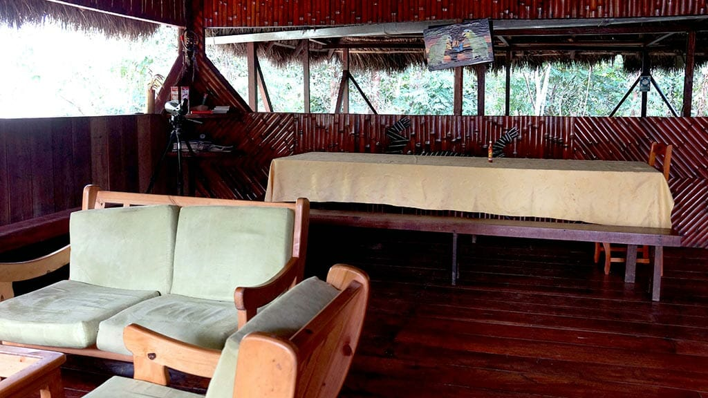 caiman lodge cuyabeno reserve ecuador - social area with coffee table
