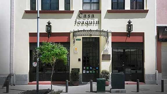 entrance to hotel casa joaquin quito ecuador