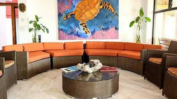 Hotel Casa Marita, Puerto Villamil, Isabela, Galapagos - indoor social lounge