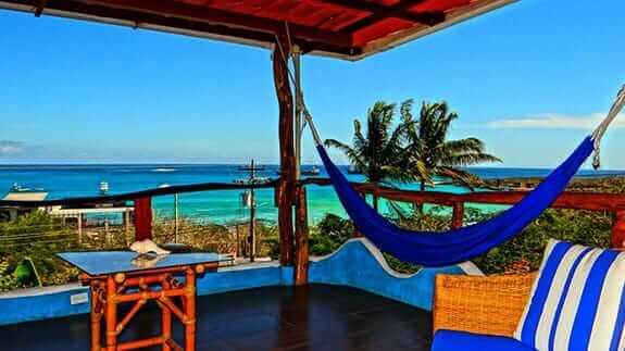 hammocks with sea view at hotel casa Playa Mann