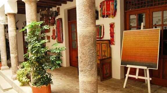 casa san marcos hotel quito ecuador - hallway