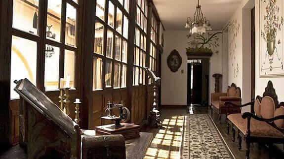 casa san marcos hotel quito ecuador - colonial style hallway