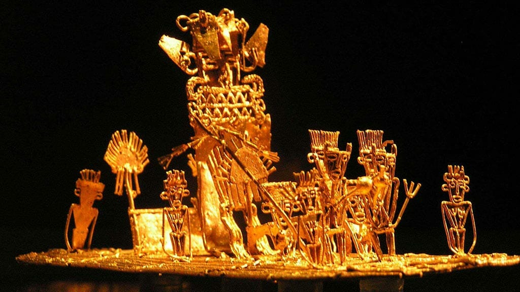 artefact at the Museo del Oro Bogota gold museum Colombia