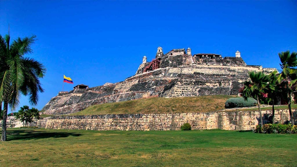 ancient fort ruins cartagena city colombia