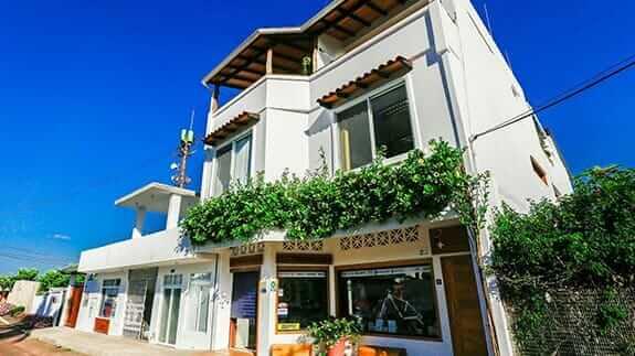 cucuve suites hotel facade - puerto ayora, sant cruz island, galapagos
