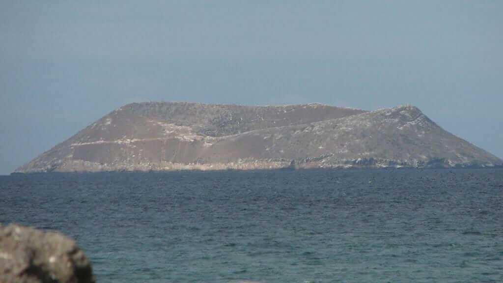 Daphne major galapagos tuff cone islet