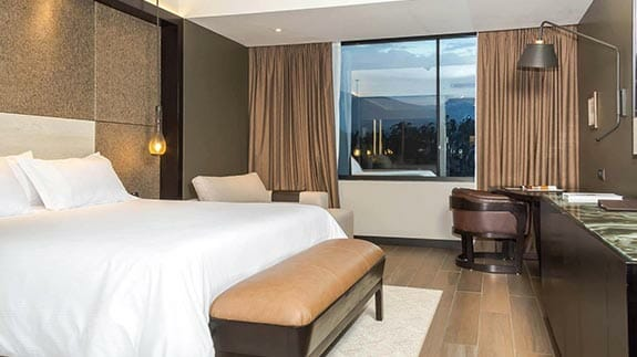 double room with king bed at EB hotel quito airport ecuador