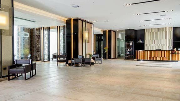 open lobby of euro building EB hotel quito airport