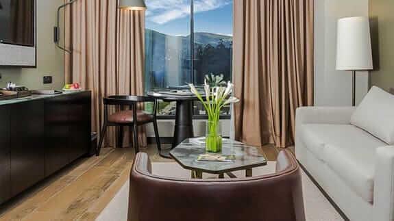 room lounge at EB hotel quito airport ecuador