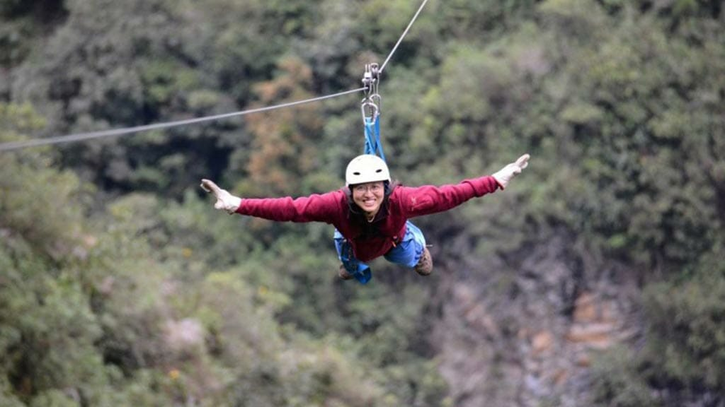 banos ecuador ziplining like superman