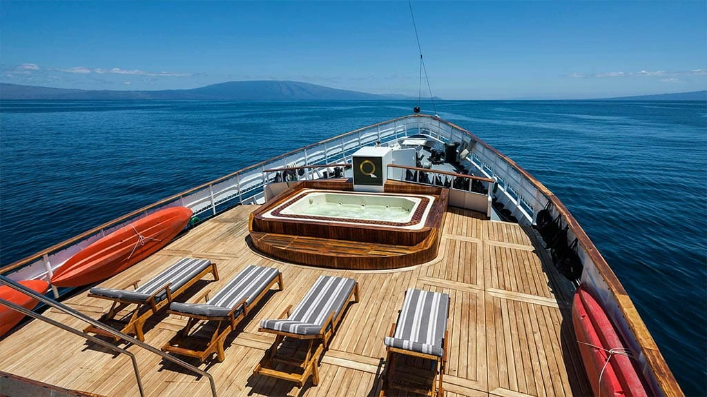 Evolution cruise ship Galapagos Islands - sun deck and jacuzzi