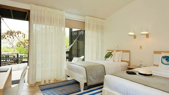 finch bay hotel galapagos - twin guest bedroom
