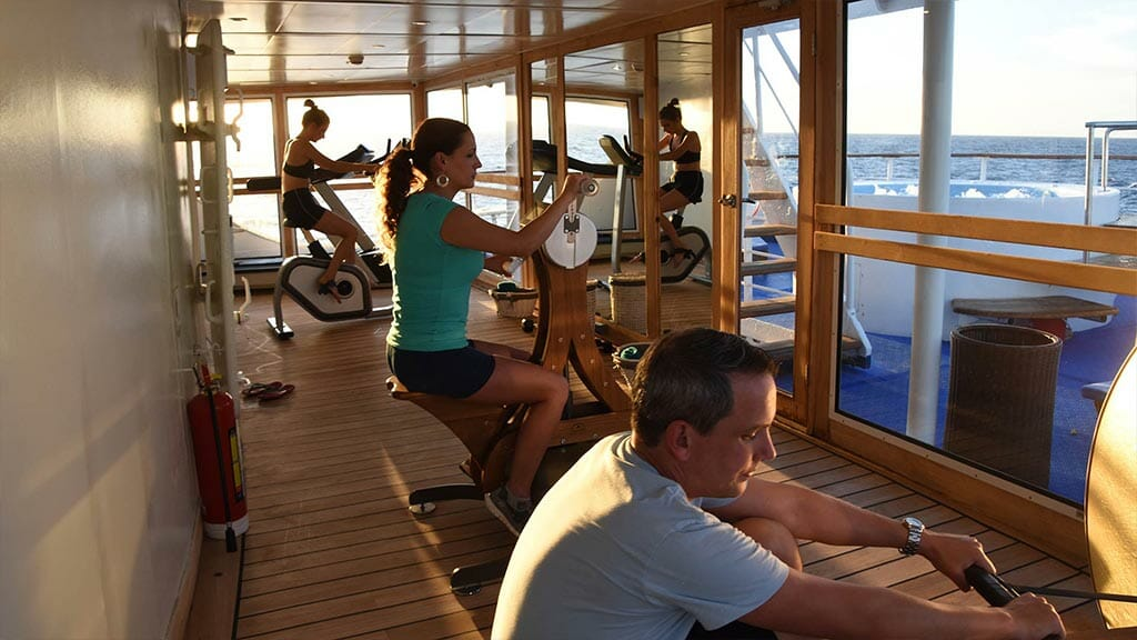 Legend cruise ship Galapagos Islands - onboard gymnasium for excercise