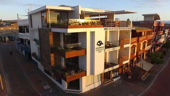 facade of galapagos sunset hotel