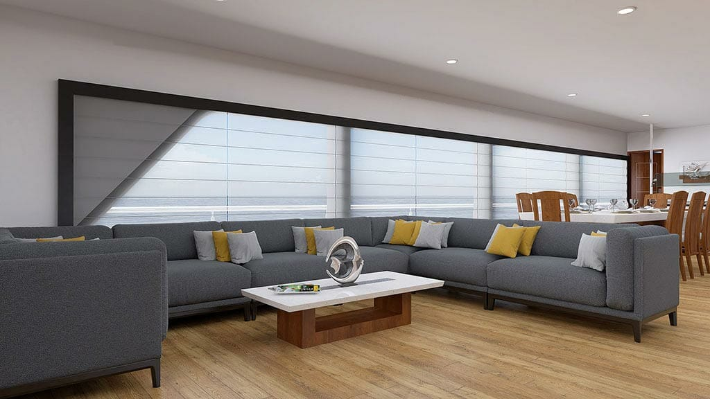 Grand Daphne yacht galapagos island cruise - indoor lounge area
