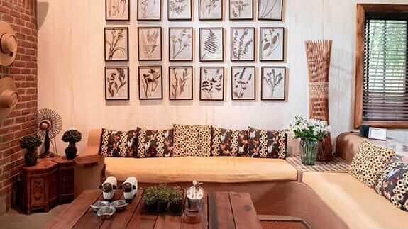indoor social area with impressive interior design at hacienda la danesa guayaquil