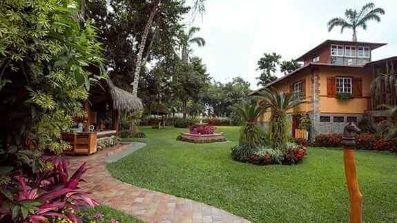 hotel exterior and gardens of hacienda la danesa guayaquil ecuador