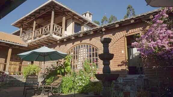 exterior of hacienda la jimenita hotel close to quito airport