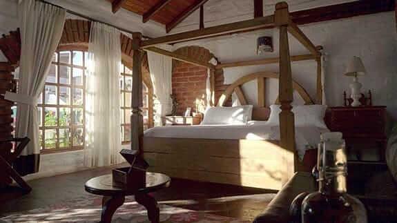 hacienda la jimenita hotel - double guest bedroom